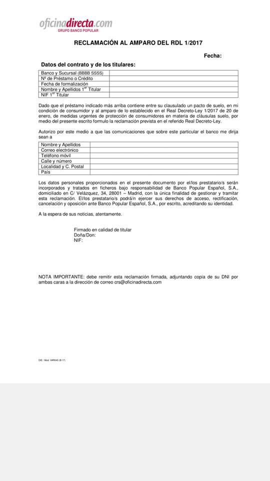 Seguimiento acuerdo extrajudicial clausula suelo t serio for Escrito clausula suelo