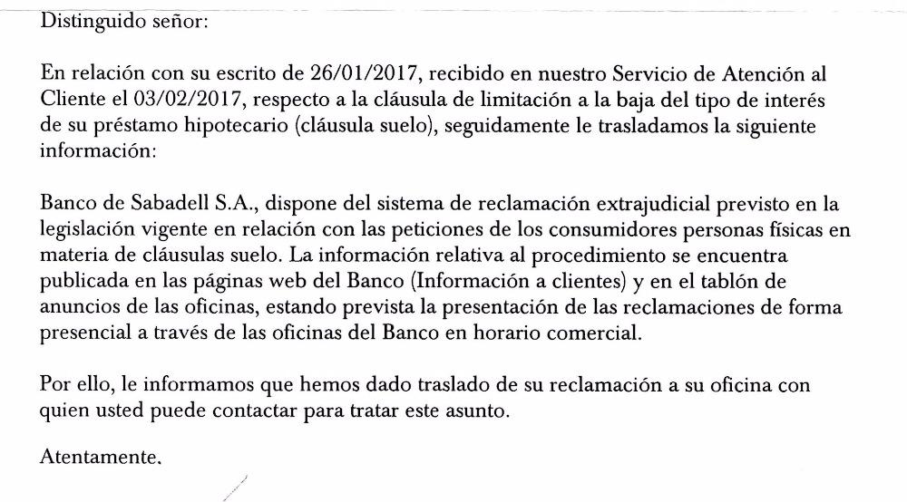 Devoluci N Dinero Clausula Suelo Banco Sabadell