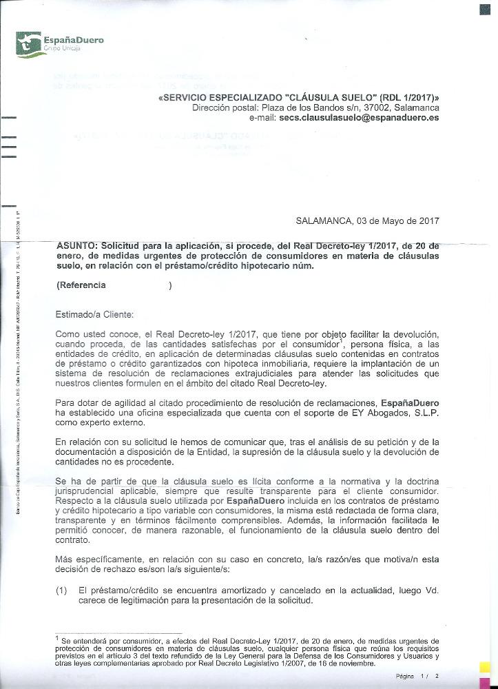 Devolucion importes clausula suelo de hipoteca ya for Acuerdo clausula suelo caja espana