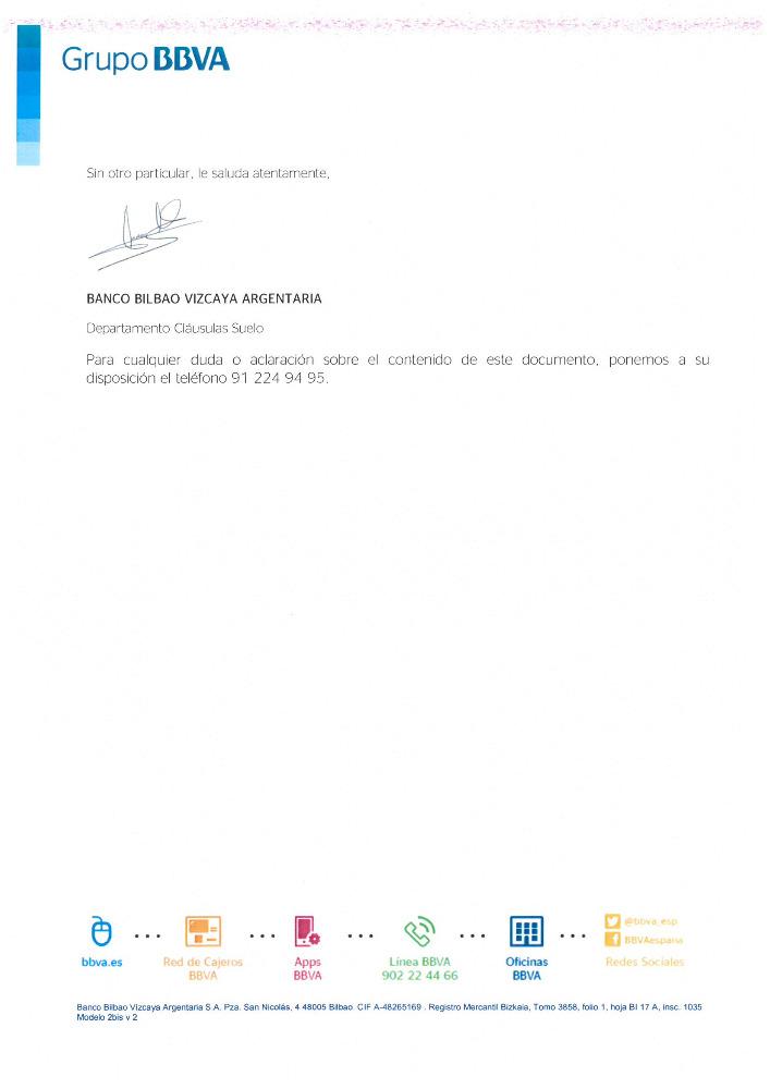 Carta Negativa Devolucion Suelo Bbva Josportal Foro